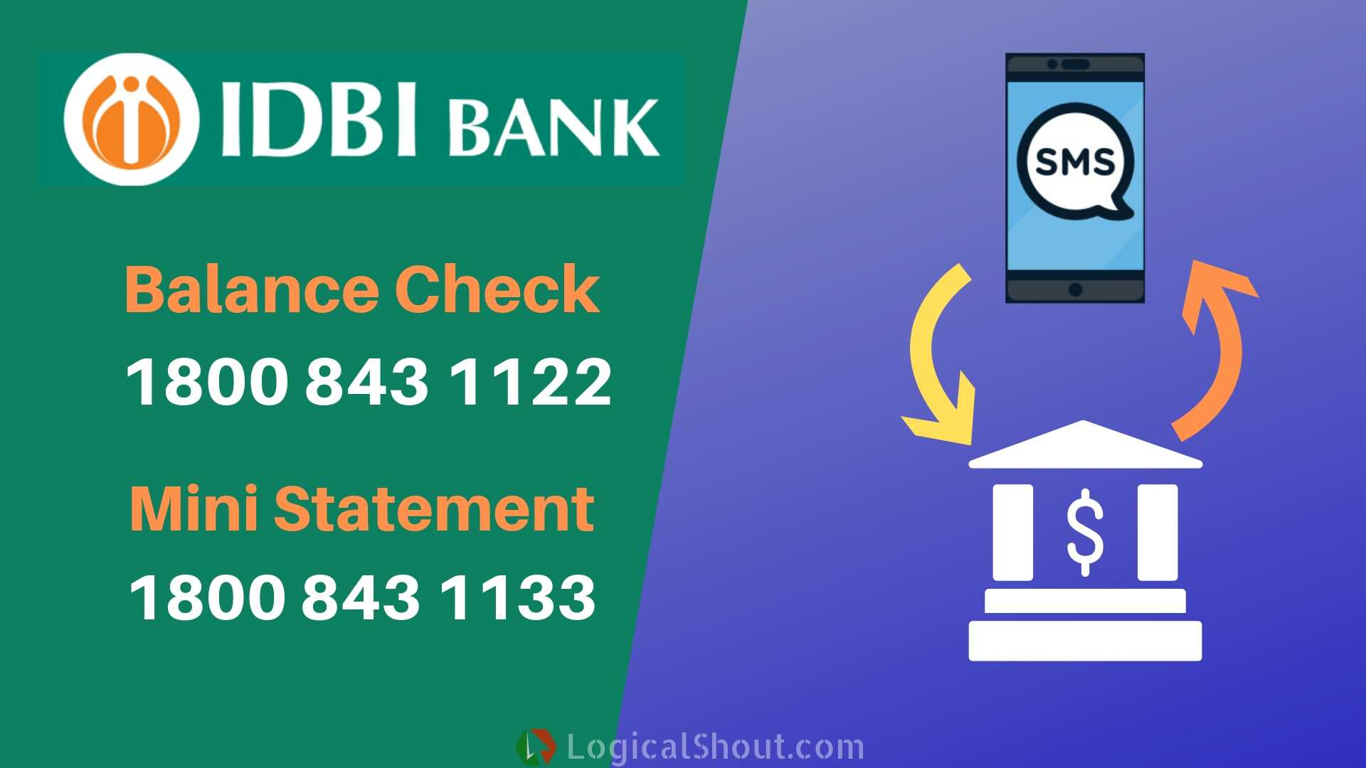 IDBI Bank Balance Check Number