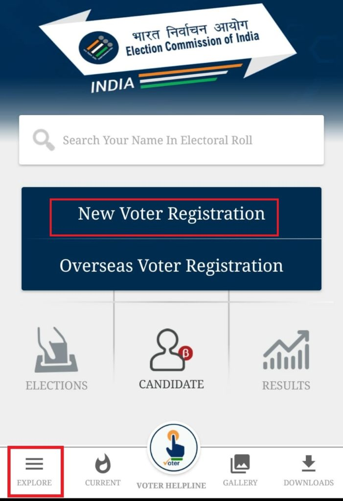 home page of Voter help