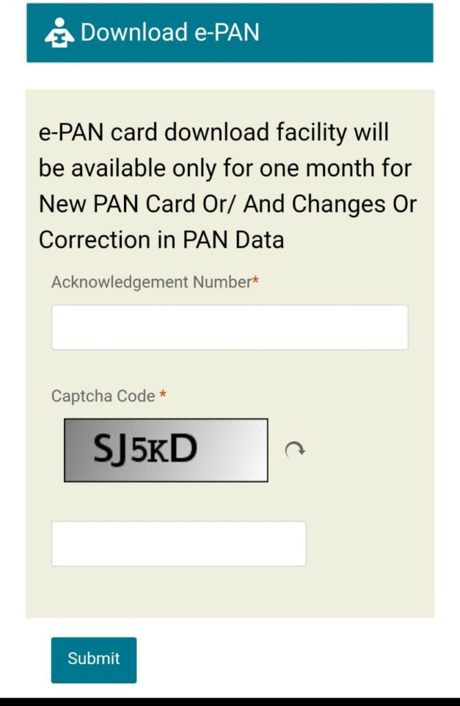 e pan card download nsdl