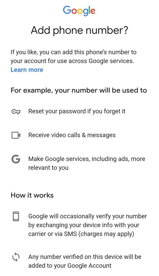 Gmail ID Mobile Number