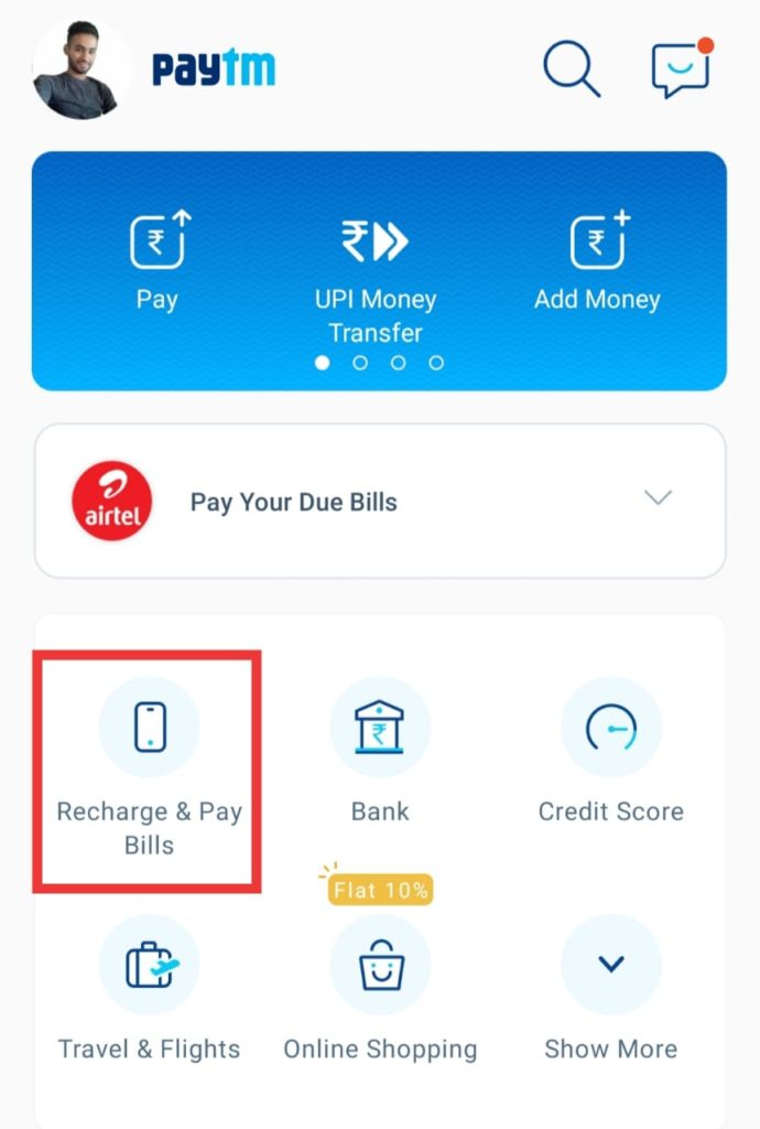 Paytm Home Page
