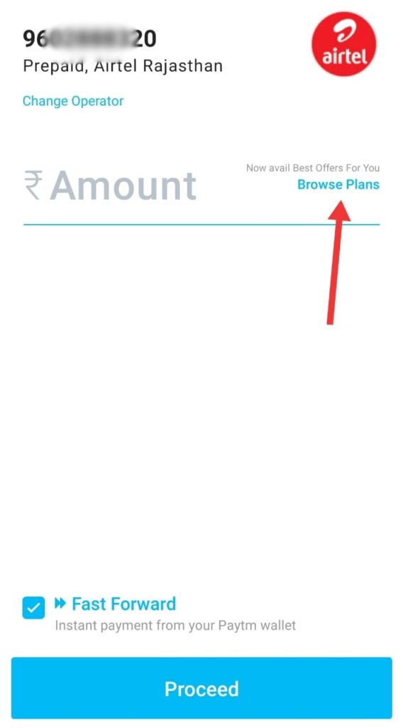 Paytm Recharge Browser Plans
