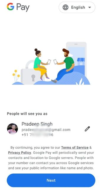 Google Pay New Account