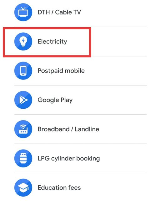 Google Pay Electricity Icon