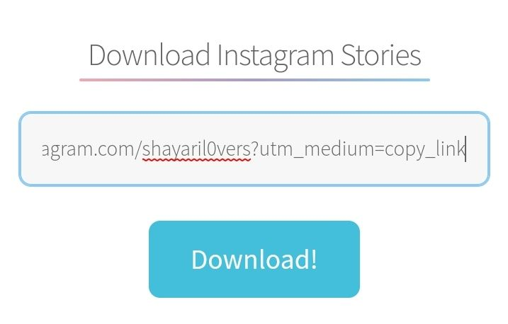 instagram story download from web